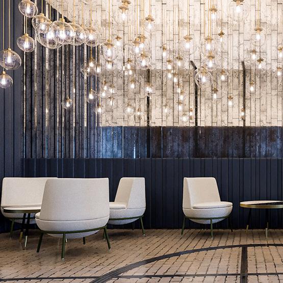 Lobby hotelu w Gdańsku