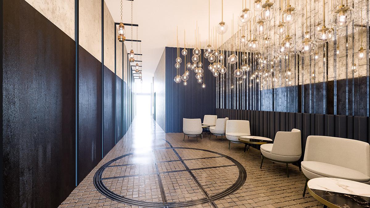 lobby hotelowe w stylu art deco