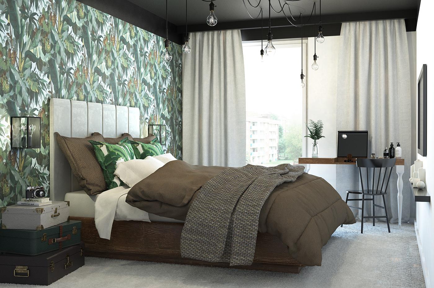 Sypialnia W Tropikalnym Klimacie Architekt Wnętrz Gdynia