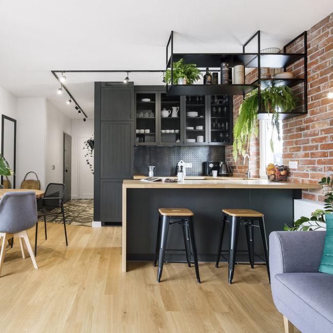 industrialna kuchnia typu soft loft
